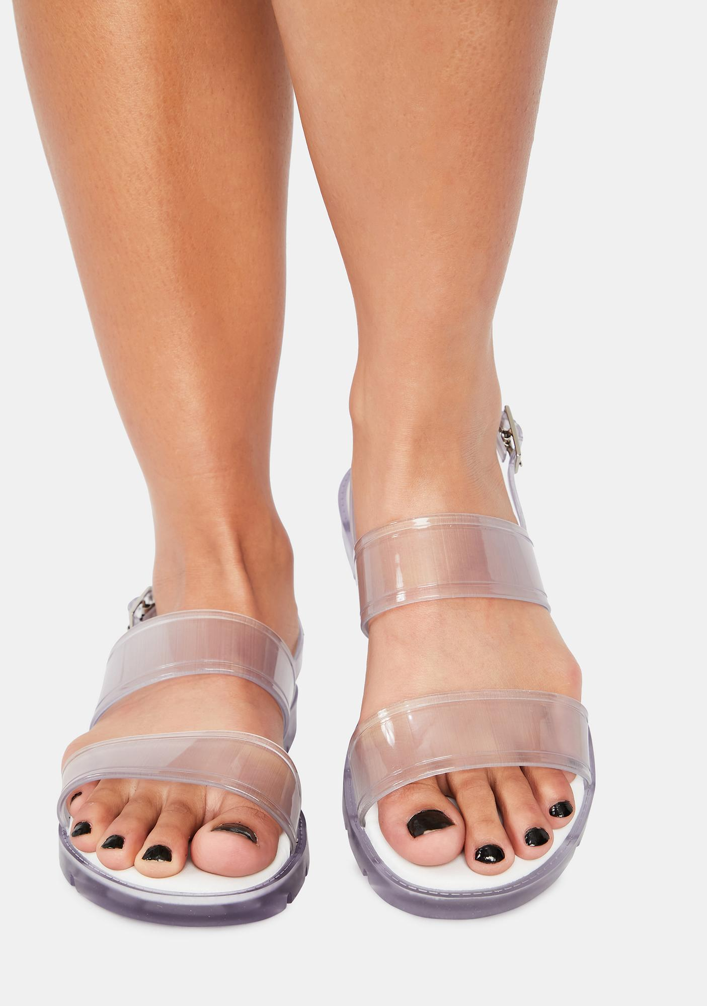 Petite Jolie Clearly Arlington Jelly Sandals