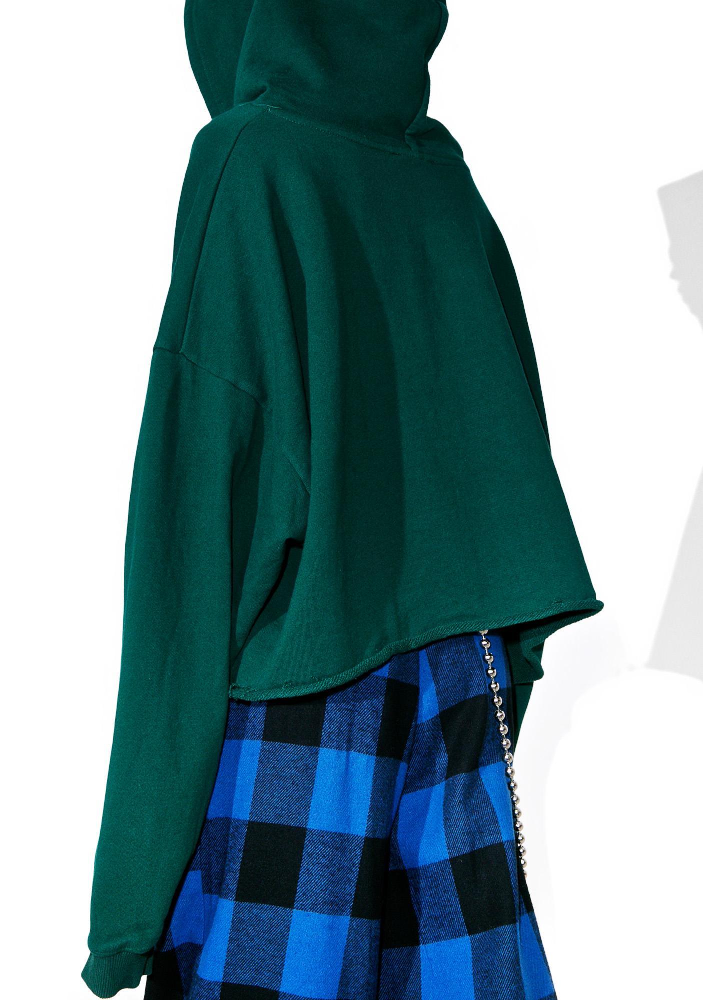 Women's Green Stripe adidas Originals Cropped Hoodie ...  Green Cropped Hoodie