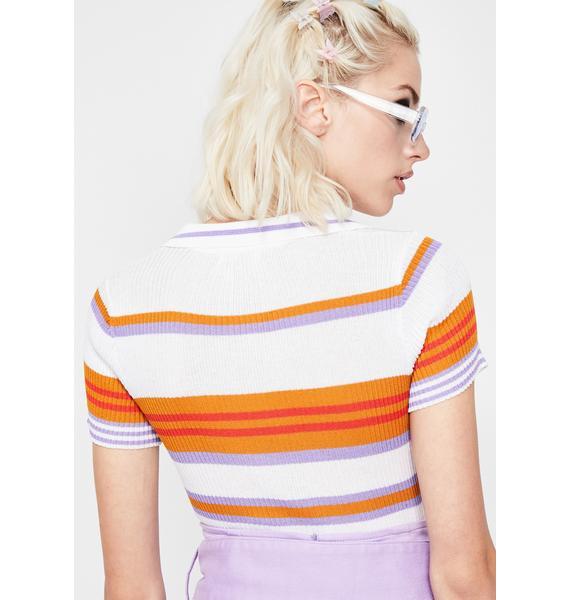 Sassy Sprinkles Stripe Bodysuit
