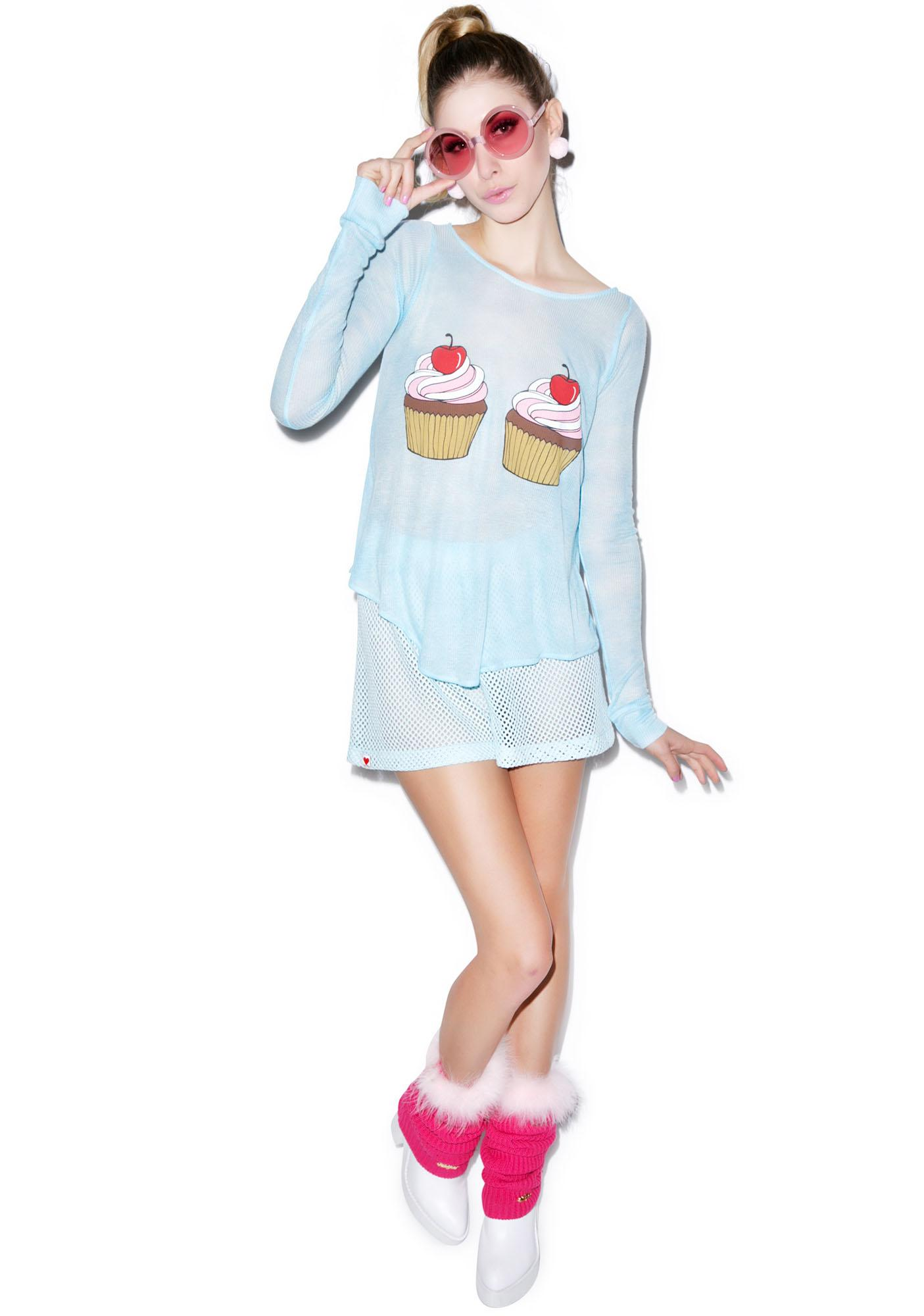 Wildfox Couture Cupcake Long-Sleeved Cassidy Tee