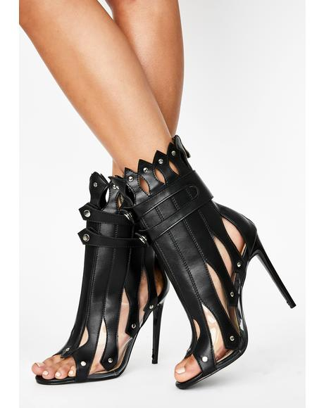 Gladiator Heeled Booties