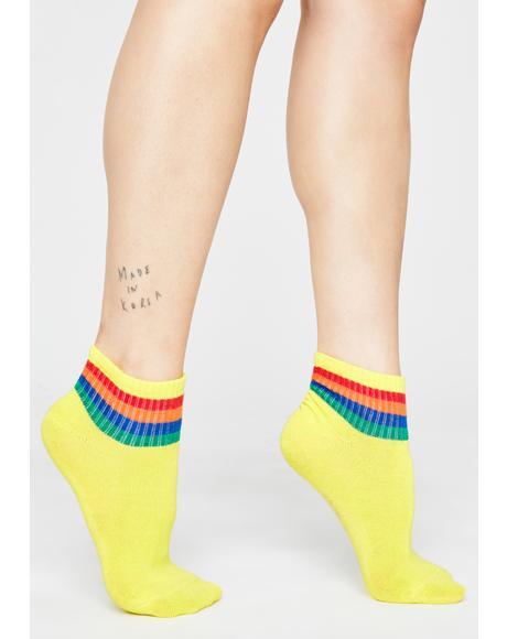 Sunny Ova The Rainbow Ankle Socks