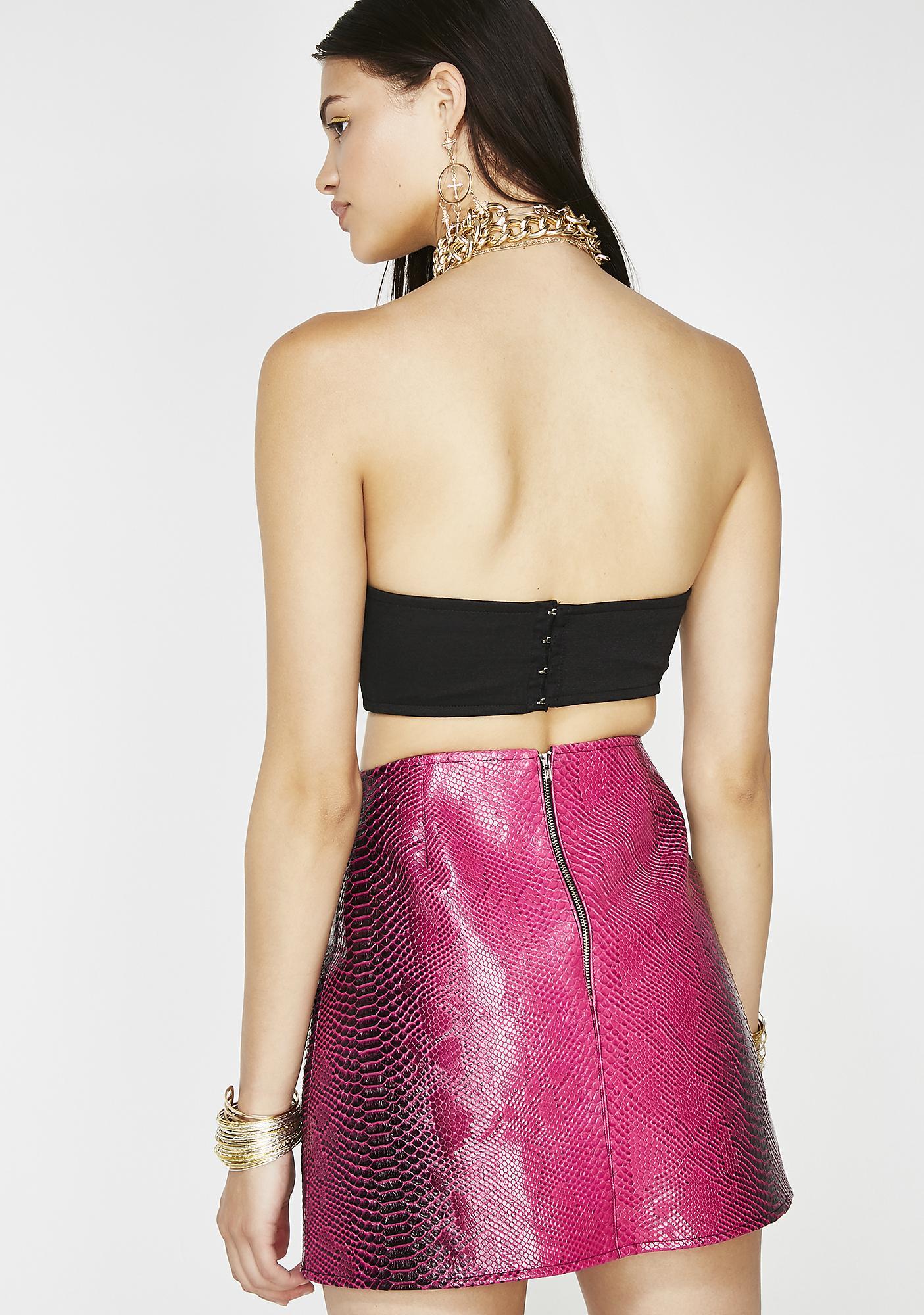 Sinful Seductress Vinyl Skirt