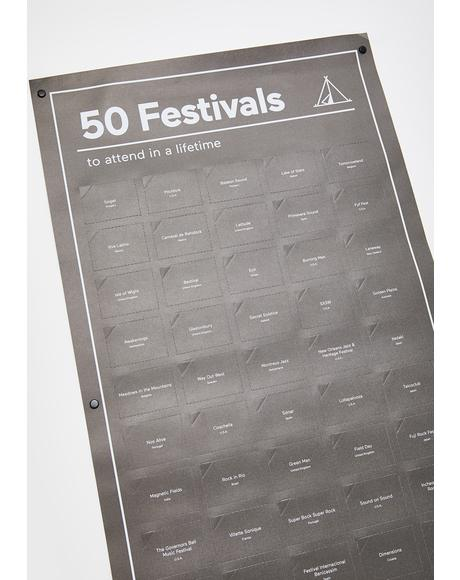 50 Must Do Festivals Poster