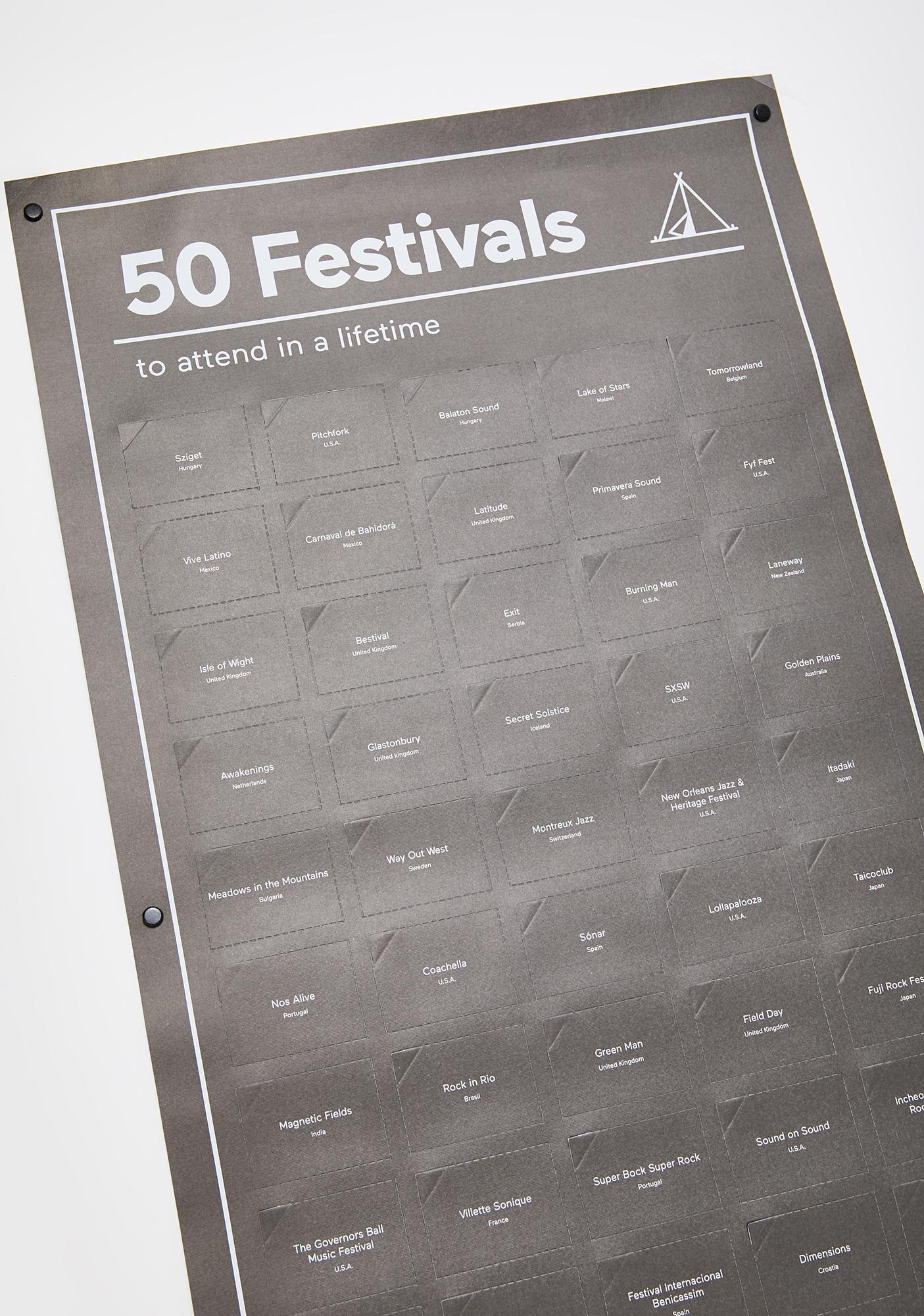 50 Must Do Festivals Poster