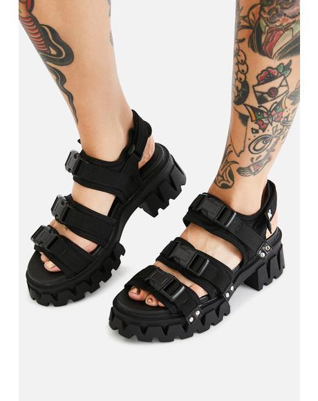 Forlorn Buckle Sandals