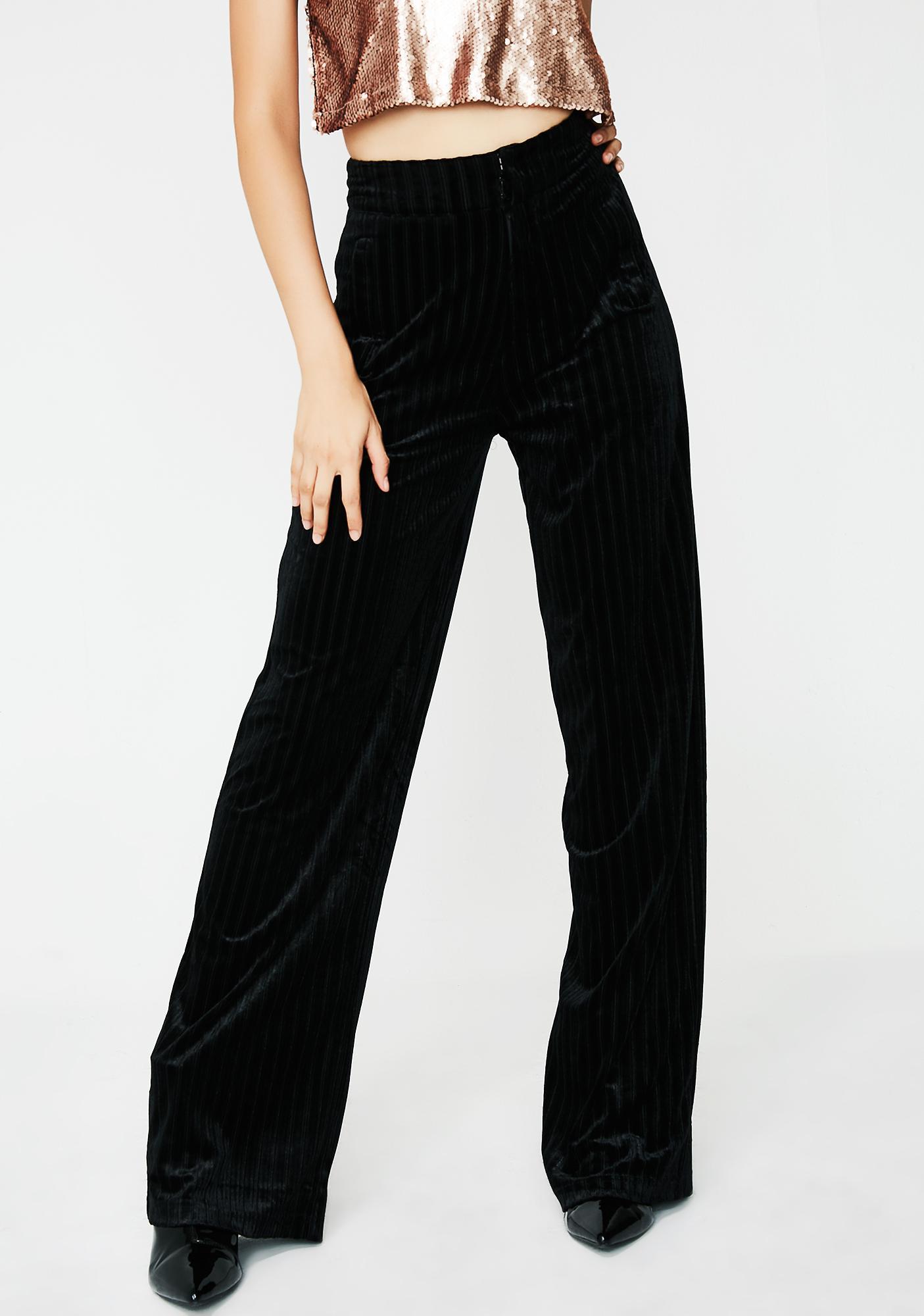 Onyx Now Or Never Velvet Pants