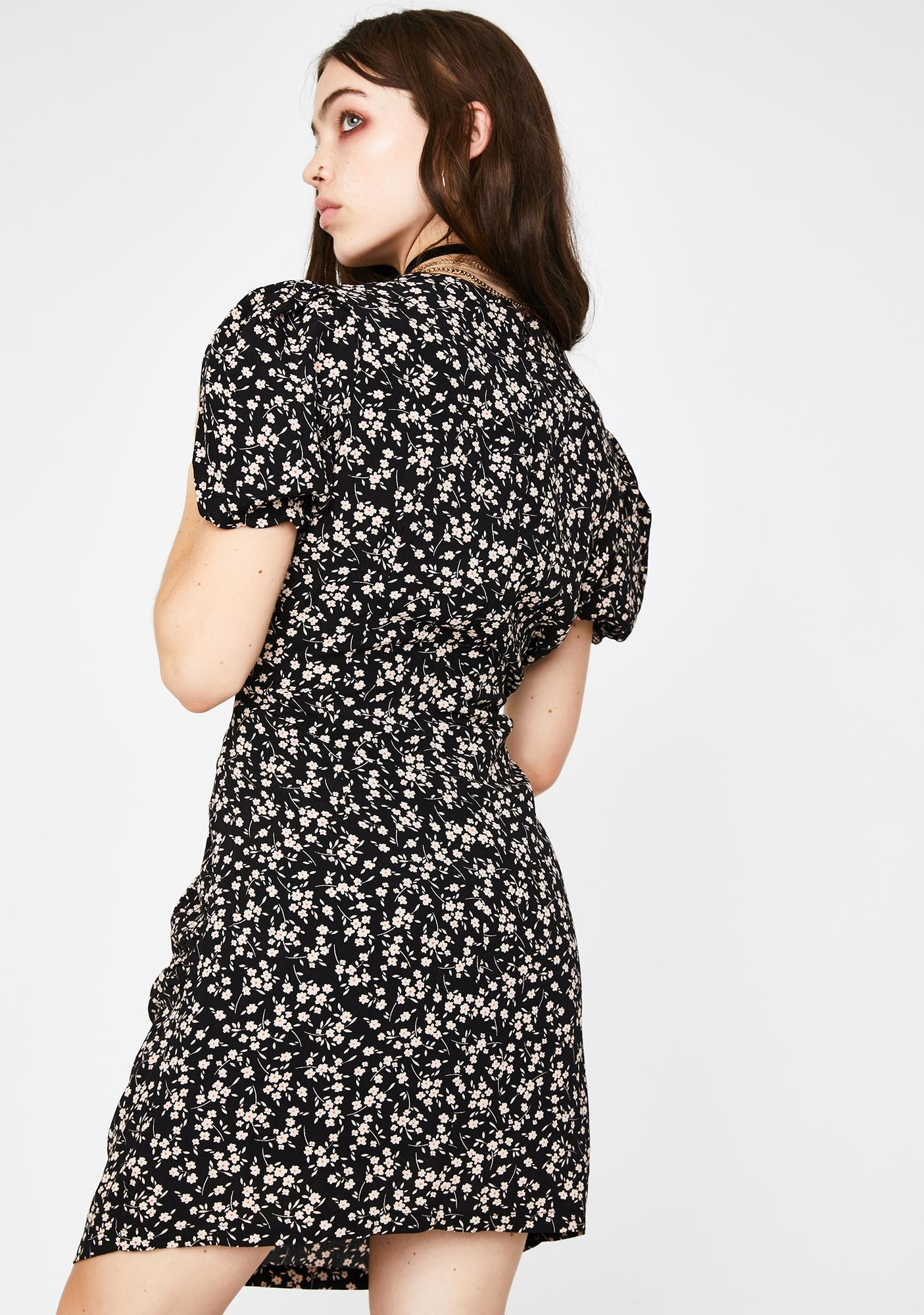 Glamorous Black Stone Ditsy Mini Dress