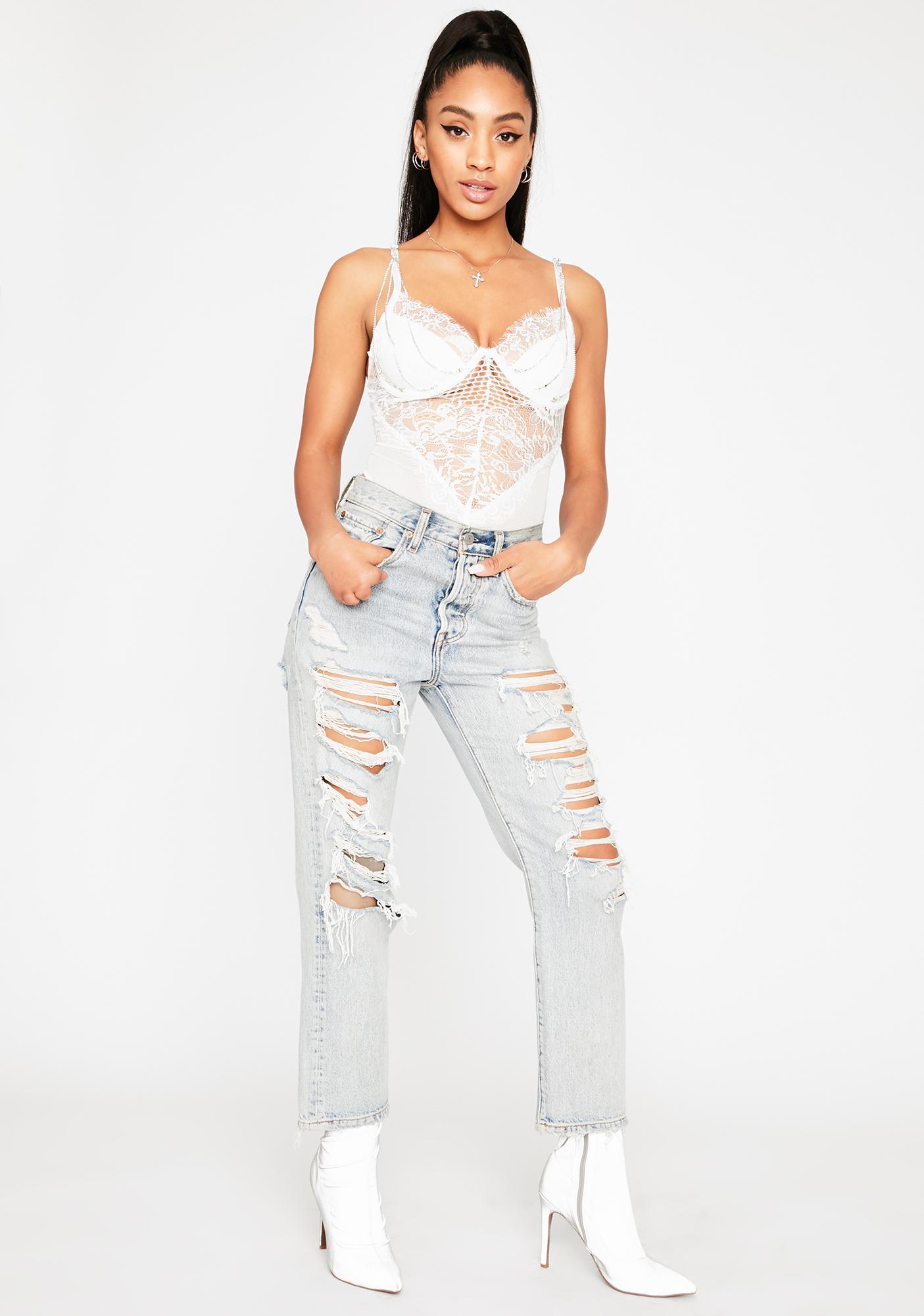 Heavenly Mischief Lace Bodysuit