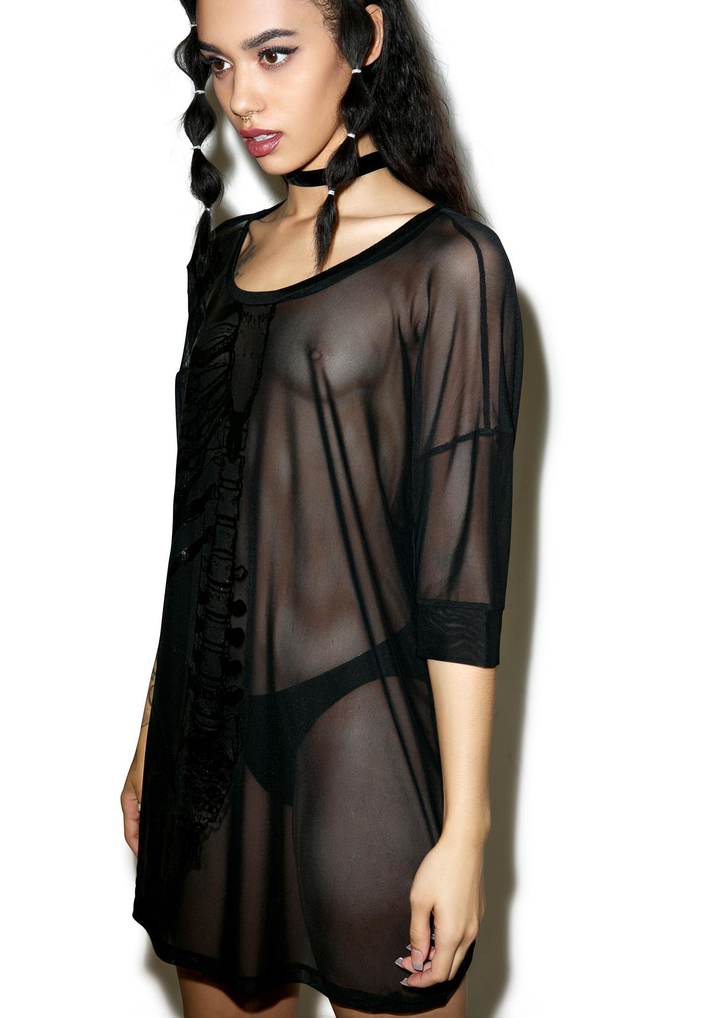 Iron Fist Wishbone Mesh Cover Up Dress
