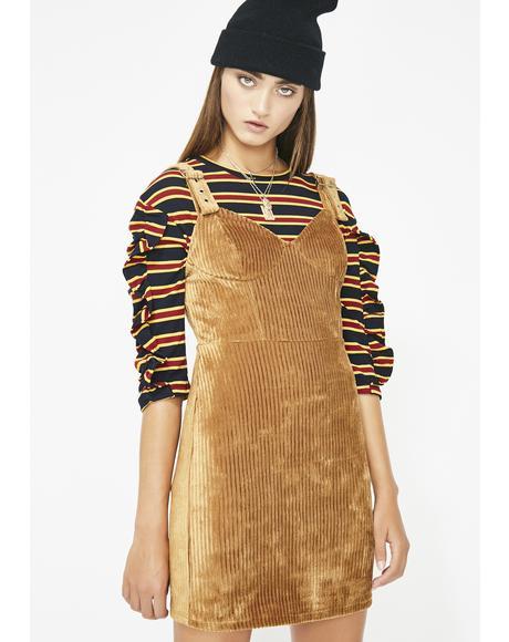 Do Whatcha Do Corduroy Dress