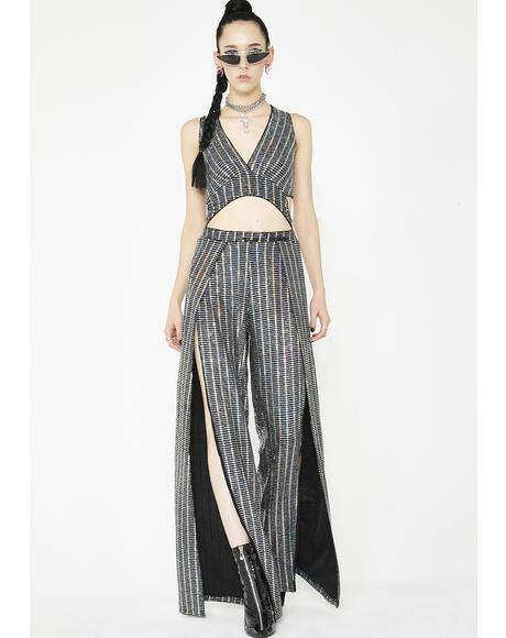 Glamorama Metallic Jumpsuit