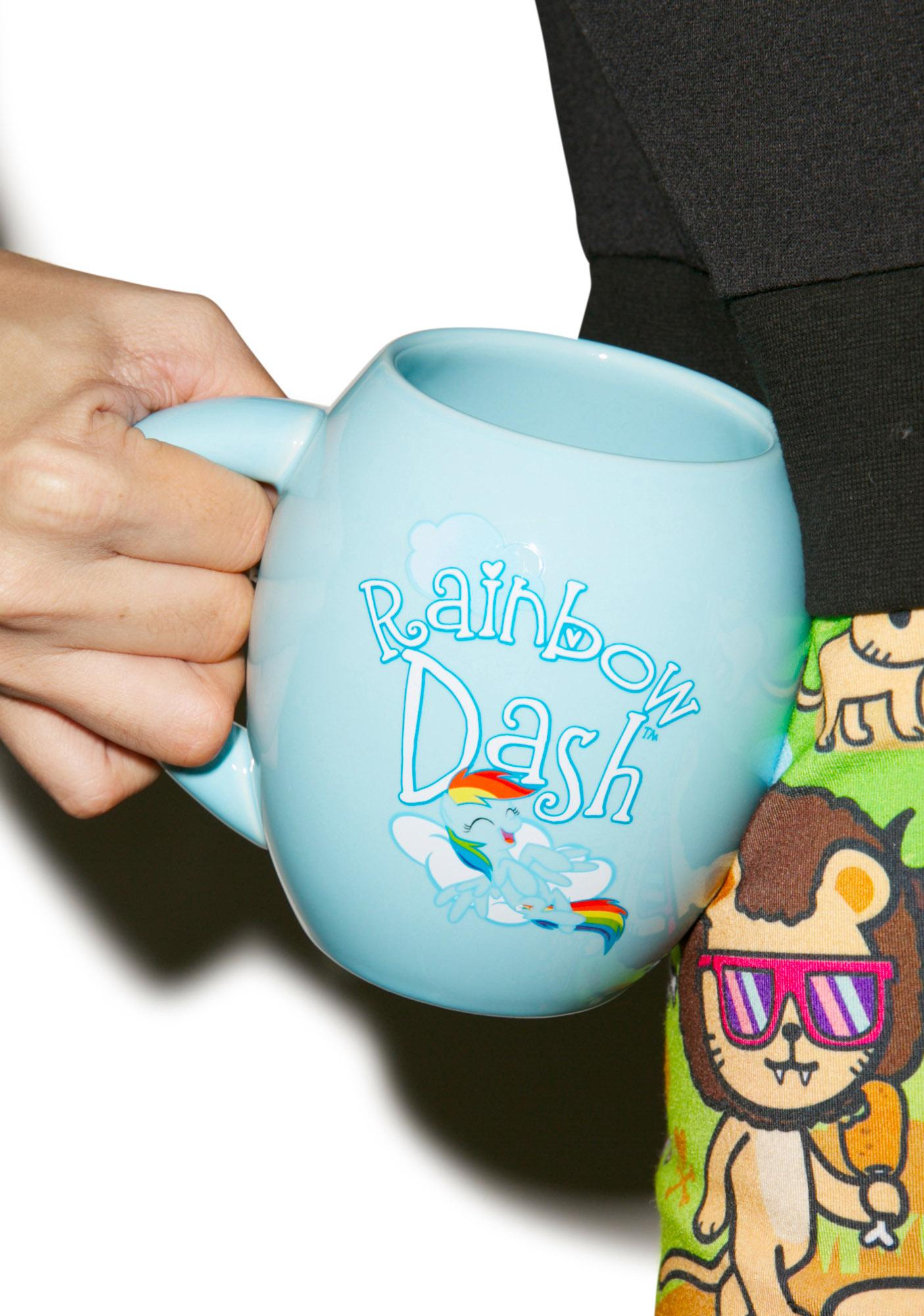 Rainbow Dash Oval Ceramic Mug