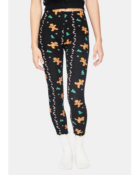 Fallin' Gingerbread Holiday Leggings
