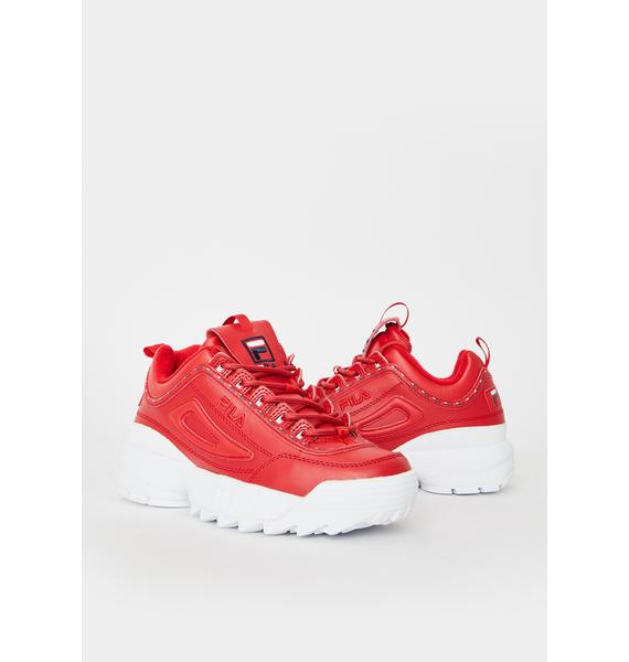 Fila Red Disruptor II Premium Sneakers