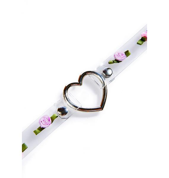Moon River Collective Rosey Heart O-Ring Choker