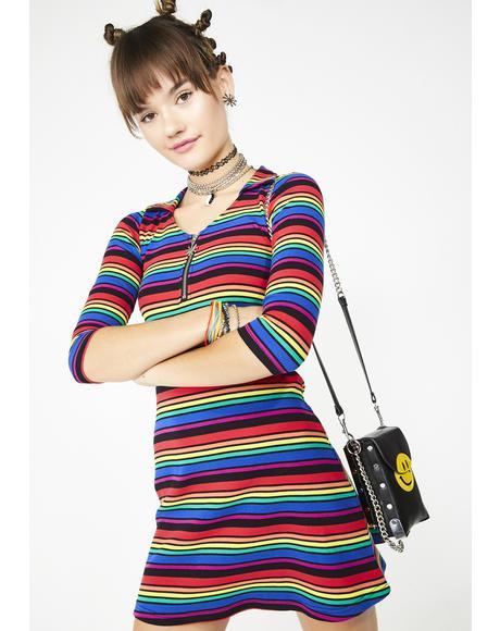 La Vida Loca Striped Dress