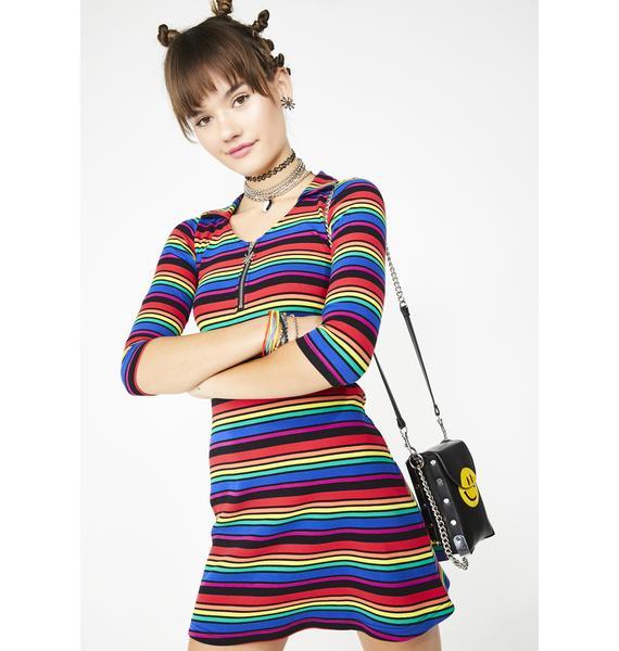 dELiA*s by Dolls Kill La Vida Loca Striped Dress