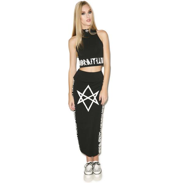 Long Clothing Hexagram Crop Top Sleeveless