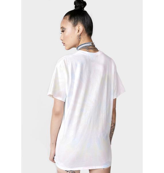 NEW GIRL ORDER Tie Dye Oversize T-Shirt Dress