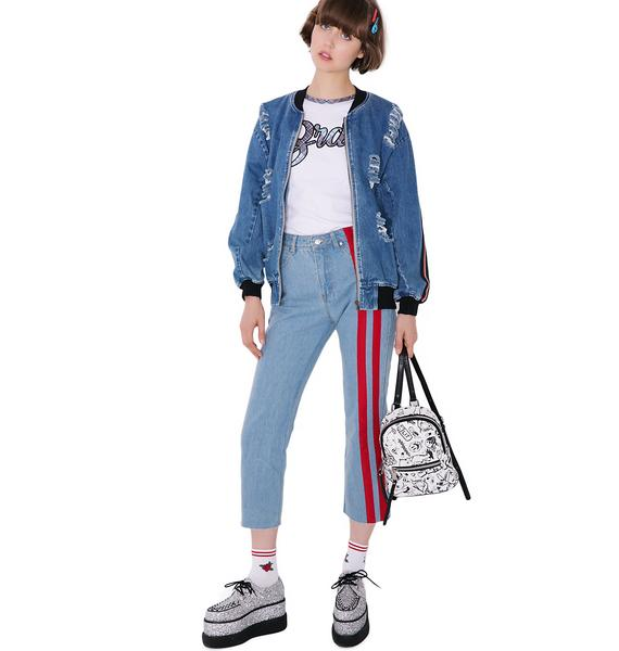 Speed Racer Striped Jeans