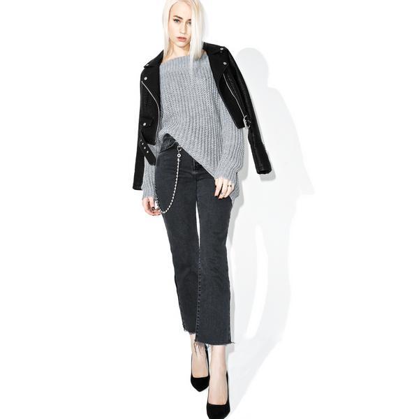 Ashen Shredded Sweater