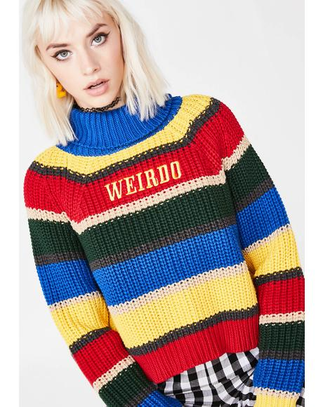 Weirdo Knit Striped Jumper