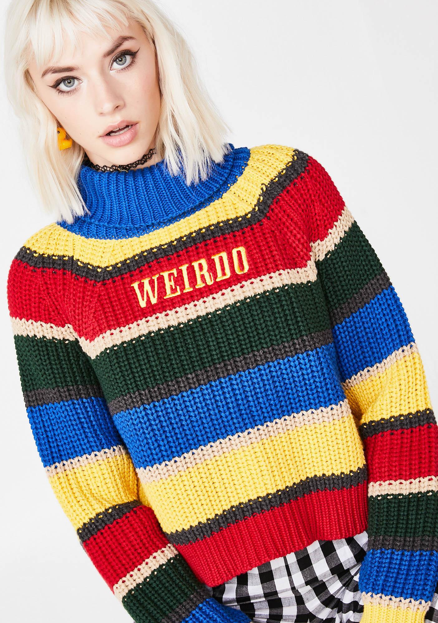 Minga Weirdo Knit Striped Jumper