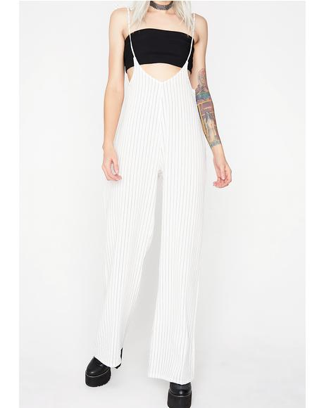 Lucky Strike Striped Jumpsuit