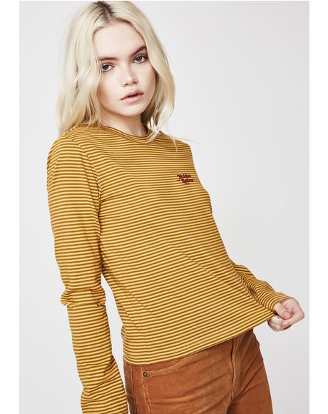 Frequency Stripe Long Sleeve Tee