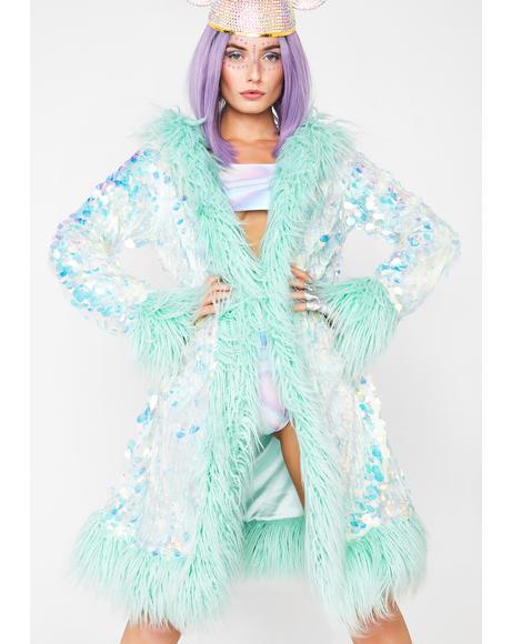 Galactic Glamgasm Sequin Coat