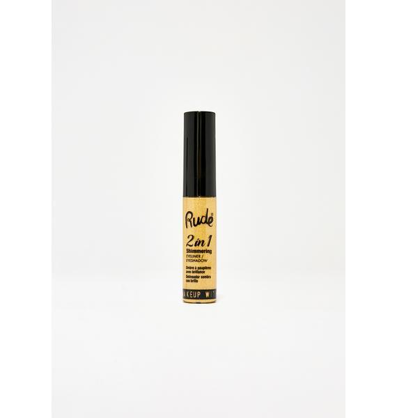 Rude Cosmetics Amber 2 In 1 Shimmering Eyeliner N' Eyeshadow