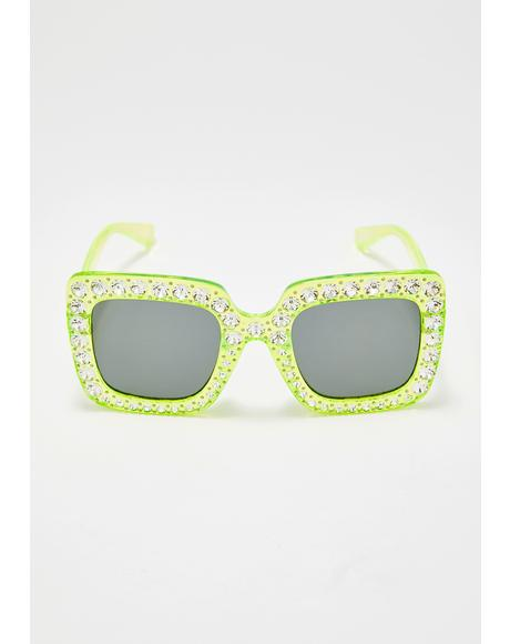 Electrik Glamour Jeweled Sunglasses
