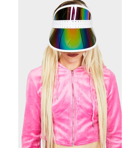 No Pictures Please Iridescent Visor