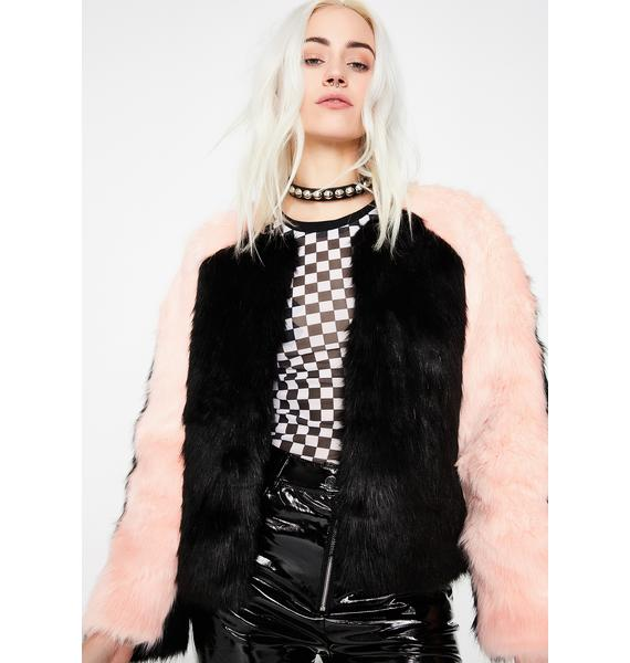 Frenchy Rizzo Furry Jacket