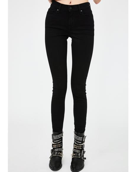 Black Curvy Skinny Jeans