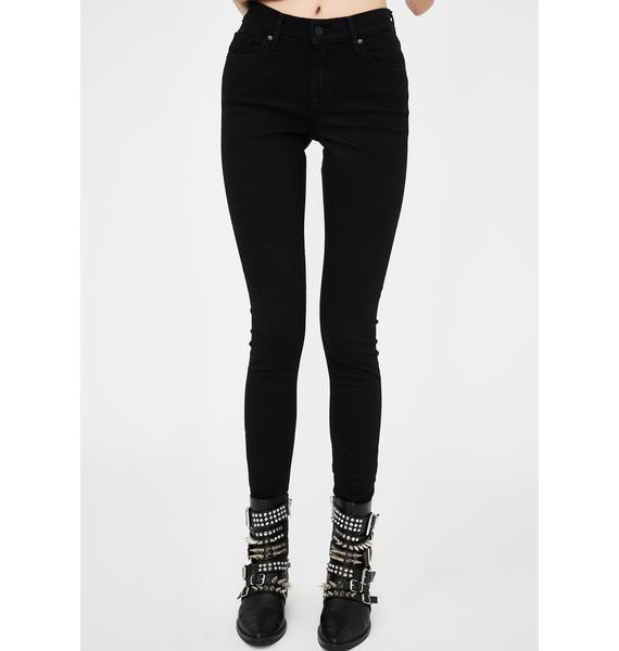 Levis Black Curvy Skinny Jeans