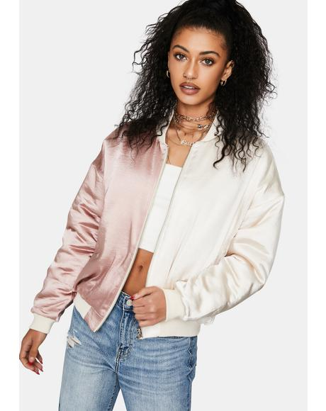 Mauve Into The Deep Bomber Jacket