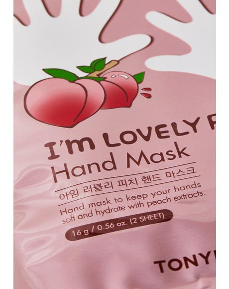 I'm Lovely Peach Hand Mask