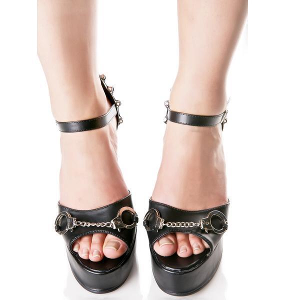 Under Arrest Platform Heels