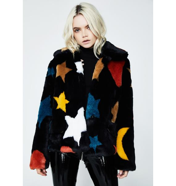 Glamorous Give Me Space Fuzzy Jacket