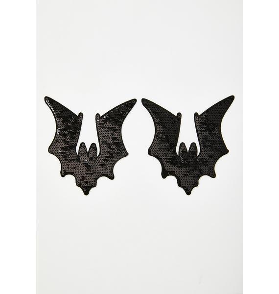Neva Nude Sequin Bat Pasties