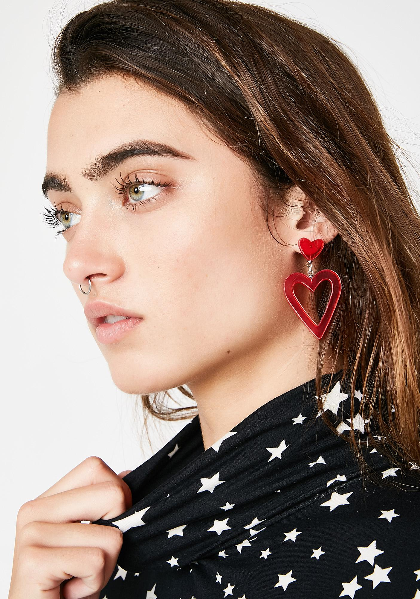I See Hearts Drop Earrings