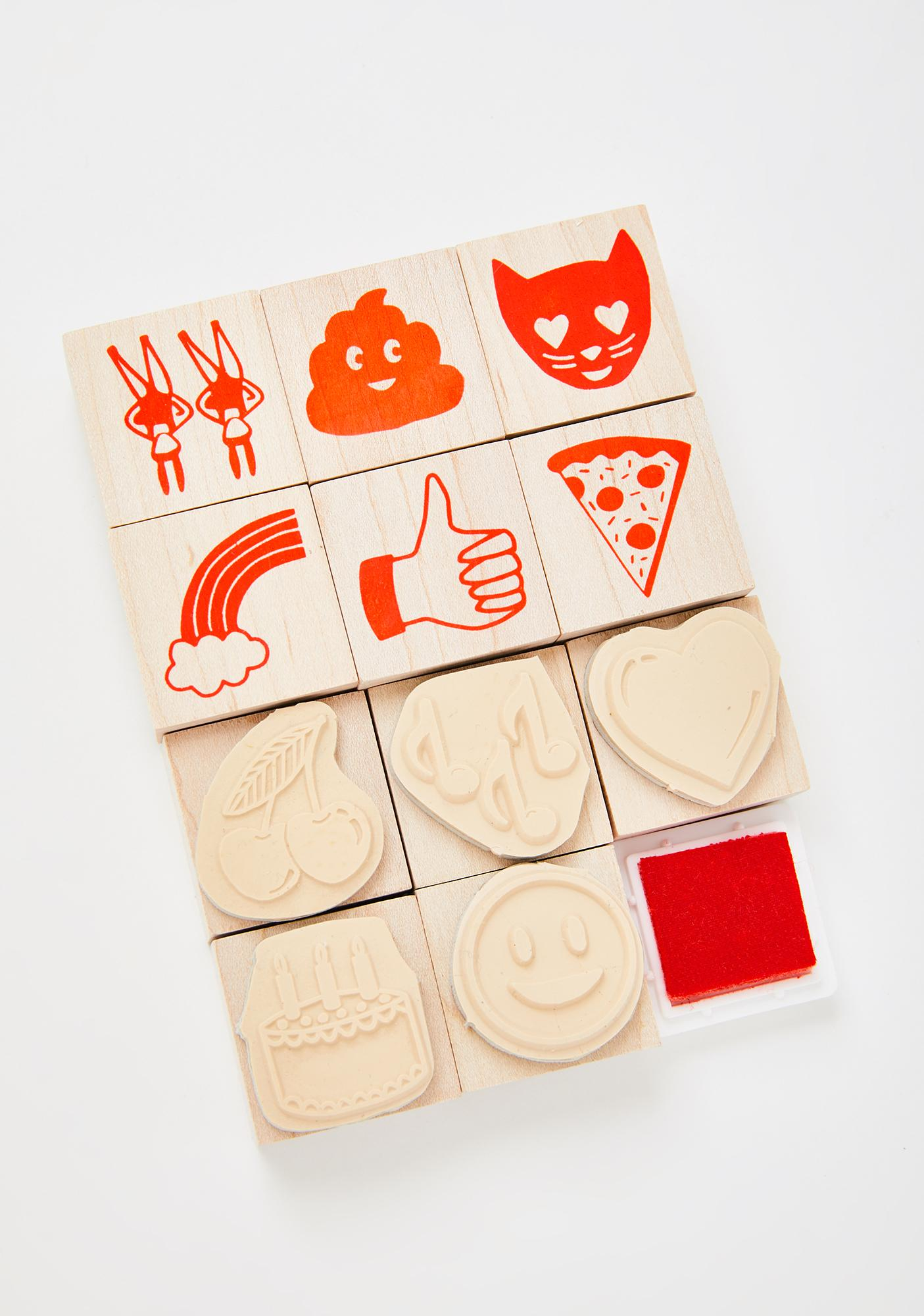 Yellow Owl Workshop Emoji Rubber Stamp Kit