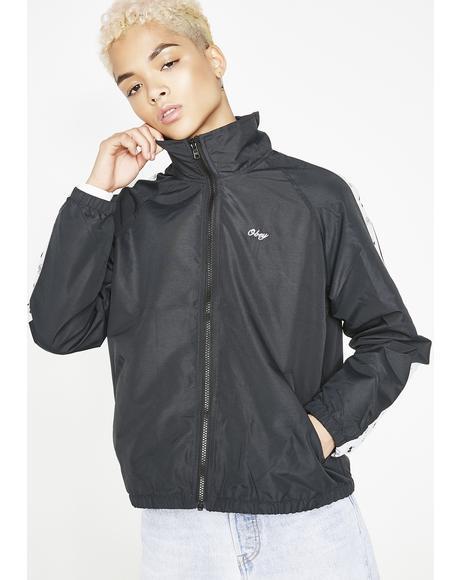 Cerise Track Zip Jacket