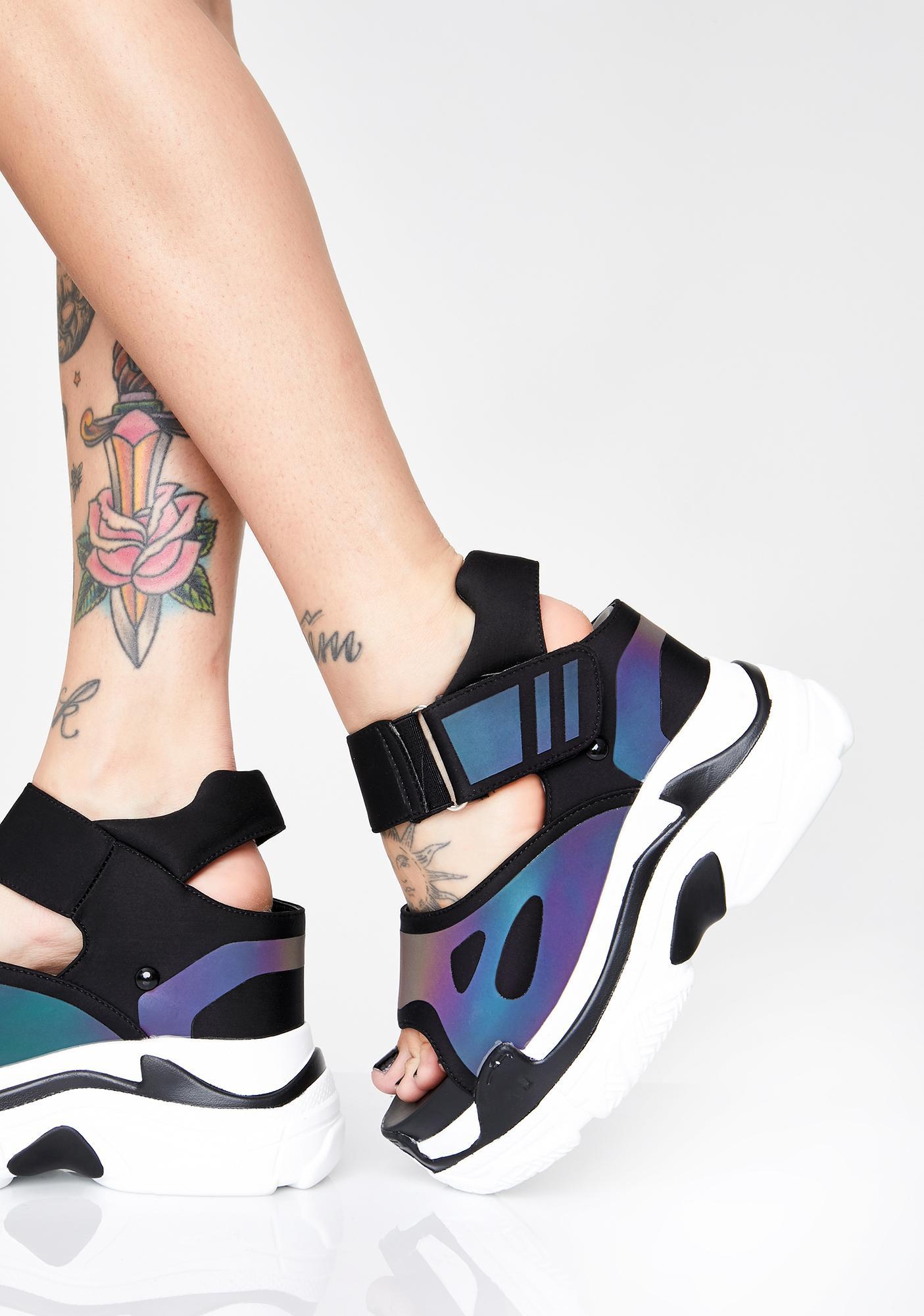 Anthony Wang Itz Litt Platform Sandals