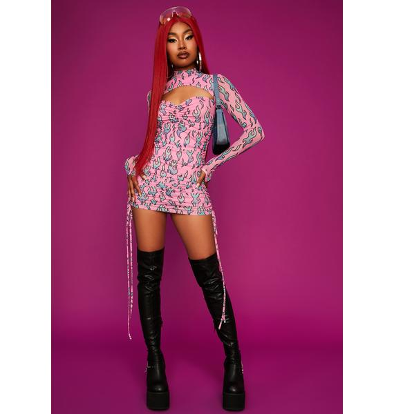Dolls Kill x Bratz All The Rage Sheer Mini Dress