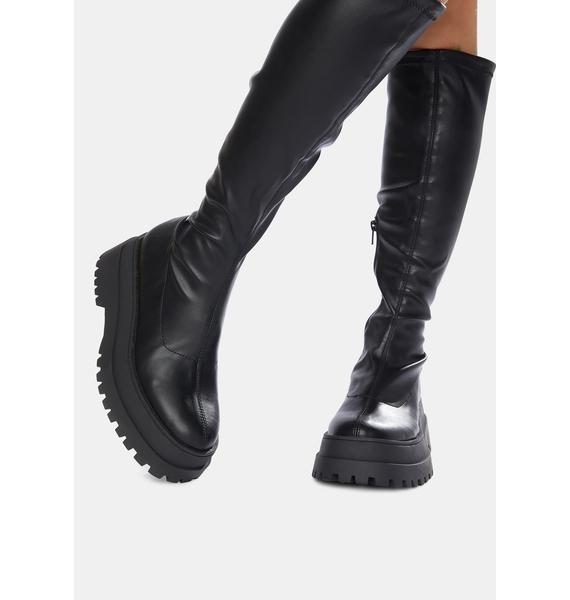 Public Desire Haunt Knee High Chunky Sole Boots
