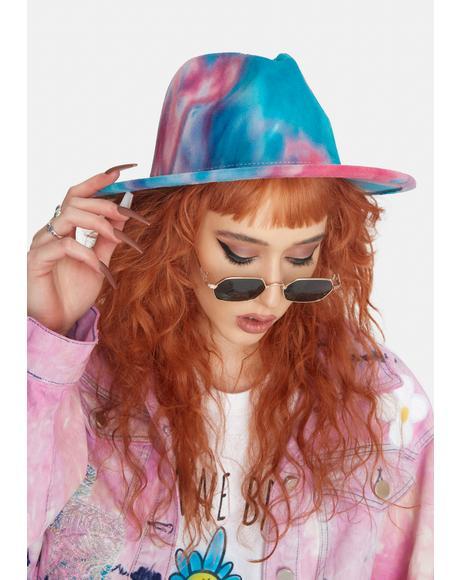 Aqua Skies Of Wonder Tie Dye Hat