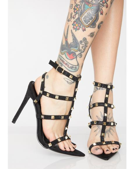 Glam Riot Studded Heels